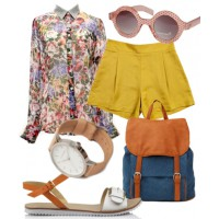 Picnic pretty: Think a collared shirt is too corporate for a casual picnic? Dress it down with a chic pair of shorts, sandals and cool accessories.