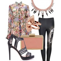 Party animal: A pair of killer leggings, sky-high heels and accessories with attitude will transform your spring shirt from stylish to sexy.