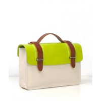 Seventy Eight Percent Zazie Leather And Canvas Satchel in Apple Green from Bottica, $451.19. http://boticca.com/seventyeightpercent/zazie-leather-and-canvas-satchel-in-apple-green/16228/