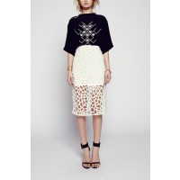 Maurie & Eve Paper Cut Pencil Skirt, $179. http://www.maurieandeve.com/ready-to-wear/Skirts/paper-cut-pencil-skirt-5