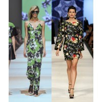 Winter florals (l-r): Shakuhachi, Runway 7 Presented by by SHOP Til You Drop. Trelise Cooper, Presented InStyle. Images: Lucas Dawson Photography.