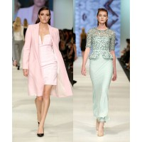 Pretty pastels (l-r): Michael Lo Sordo, Runway 4 Presented by ELLE Australia. Rachel Gilbert, Runway 2 Presented by InStyle. Images: Lucas Dawson Photography.