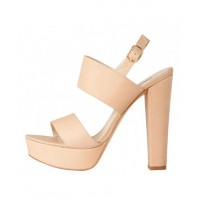Colour and contrast: Windsor Smith Salmon Platform Heel in Bone, $129.95. http://www.windsorsmith.com.au/catalog/product/view/id/81237/s/pre-order-salmon-bone/category/68/?color=Bone