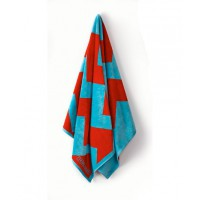 Tribal Friday Aqua Splash Terry/Velour Towel, $95. http://tribalfriday.com/shop/aqua-splash-terry-velour/