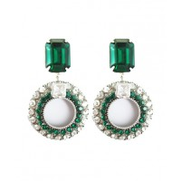 Paula Hall Designs Emerald Green & Crystal Drop Earrings, $130. http://www.paulahalldesigns.com.au/products/earrings/6/e5050---emerald-green-%3E-crystal-drops_emerald