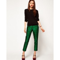 Asos Sport Jacquard Pants in Green and Black, $74.90. http://www.asos.com/au/ASOS/ASOS-Spot-Jacquard-Trousers/Prod/pgeproduct.aspx?iid=2581677&SearchQuery=green&sh=0&pge=24&pgesize=20&sort=-1&clr=Greenblack