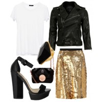 Party season: Add elegance and edge with sequins and leather.