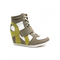 Therapy Shoes Lebron Wedged Sneak in Taupe/Lime, $69.95. http://www.therapyshoes.com.au/lebron-taupelime.html