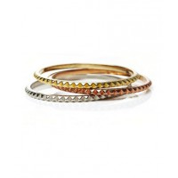 Rachael Ruddick Prism Bangles in Gold, Rose Gold and Silver, $90. http://rachaelruddick.com/index.php/jewels/prism-bangles.html