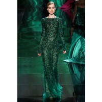 Green with envy: Monique Lhuillier RTW Autumn/Winter 2013, New York Fashion Week. Source: GoRunway via Vogue.co.uk. http://www.vogue.co.uk/fashion/autumn-winter-2013/ready-to-wear/monique-lhuillier/full-length-photos/gallery/921994