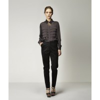 Nikola Blouse in Charcoal with Luka Trouser in Black