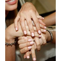 Pale nails. Image source; http://www.seventeen.com/beauty/tips/coolest-nails-at-fashion-week-nyc-phillip-lim#slide-27