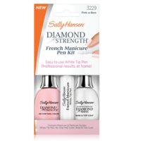 Pale nails - Sally Hansen French Manicure kit http://sallyhansen.com/