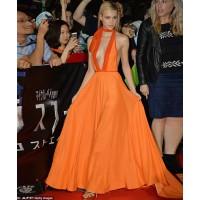 Nicola Peltz wearing Prada Fall 14 at Tokyo Premiere of Transformers: Age of Extinction.