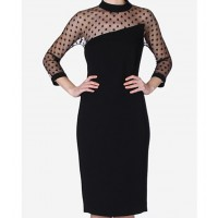 Carla Zampatti, Crepe & Spot Lace Sleeve Dress, RRP $699, Sale Price $350, source: http://www.carlazampatti.com.au/Shop/Shop_Garments/Short_Dresses/124166.0999/Crepe-And-Spot-Lace-Sleeve-Dress.html