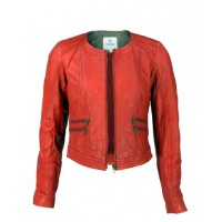 Red Biker Leather Jacket - Mirabelle $119.95 http://www.viparo.com.au/red-biker-leather-jacket-mirabelle.html