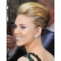 Scarlett Johansson's volumised twist. Image via http://www.starandstyle.com/celebrity-updo-hairstyles-chignon-and-french-twist.html/scarlett-johansson-updo-hairstyle1