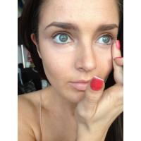 Freshen up dark circles under the eyes with concealer.