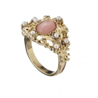 Diva Gold Pearl & Stone Ring $9.99 http://www.diva.net.au/shop/rings/gold-pearl-stone-ring.html