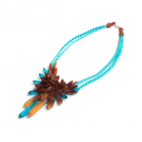 Long Aqua Bronze Crystal neckpiece $165 http://www.editionx.com.au/products/long-aqua-bronze-crystal-neckpiece