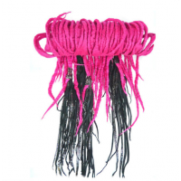 Hot Pink Scarf with Silver Leather Fringe, Bottica, $700 http://boticca.com/taianadesignboutique/hot-pink-scarf-with-silver-leather-fringe/