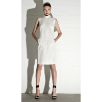 Pear Perforated Faux Leather Polo Chemise, Caral Zampatti, $669 http://www.carlazampatti.com.au/Collections/Spring%7CSummer_2013.htm