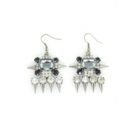 Gem Deco and Spike Gunmetal Earrings, $35, Wanderlust http://www.wanderlustandco.com/collections/earrings-newest/products/gem-deco-spike-earrings-3