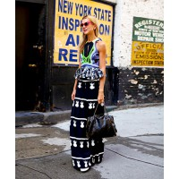 Natalie Joos rocking Mister Zimi palazzo pants like no other! http://wethepeoplestyle.com/2013/09/natalie-11/