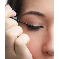 Creating a sharp flick is simple with a thin-tipped liner.