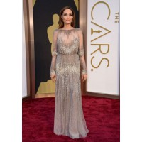 Long Sleeve: Angelina Jolie in Elie Saab at the Oscars http://bit.ly/1jQ0CyL