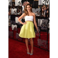 Crop-Top Dress: Jessica Alba in Piece d'Anarchive and Kenzo at the MTV Movie Awards http://bit.ly/TbXKGS