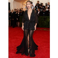 Deep V Neck Dress: Beyonce in Givenchy at the Met Ball http://bit.ly/1pEsRZd