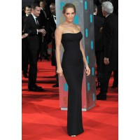 Long Column Dress: Uma Thurman in Versace at the BAFTA Awards http://bit.ly/1o8rOhW