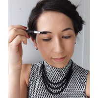 We used the Prestige Ultimate Brow Definer in Black Brown http://www.priceline.com.au/cosmetics/eyes/eyebrow/my-ultimate-brow-definer-pencil-1.0-ea