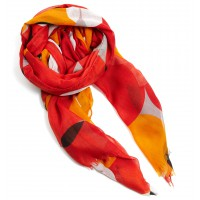 Overlapping Spot Scarf, David Lawrence $59 http://www.davidlawrence.com.au/DL-product-detail.html?styl=13010&clr=ORANGE&cat=398#.UeOp5WRle68
