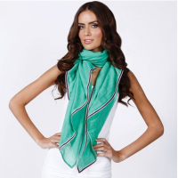 A scarf in a bold tone provides a pop of colour that can transform any outfit. Bianca Scarf, green, Louenhide, $24 https://www.louenhide.com.au/products_details/product/bianca_scarf_green_sold_out/category/scarfs/parent/accessories/section/products
