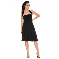 Re-tie the jersey panels for a party-friendly look. Ultimate Black Dress, Sacha Drake, $289 http://www.sachadrake.com/SHOP_ONLINE/DRESSES_&_SKIRTS/SSCOREUBD1BK/ULTIMATE-BLACK-DRESS.html