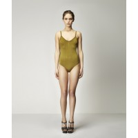 Valentin Seamless Bodysuit in Chartreuse
