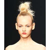When your hair is out of control, rock a top knot. Image source: http://blog.blush.com/index.php/go-to-updo-topknot-tutorial/