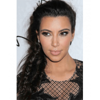 Kim K rocking a messy frizz-resistant braid! Image sources: http://www.viphairstyles.com/tag/side-braid-hairstyles