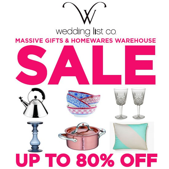 Gift and homewares sale up to 80 off bridal fashion for Gifts and homewares