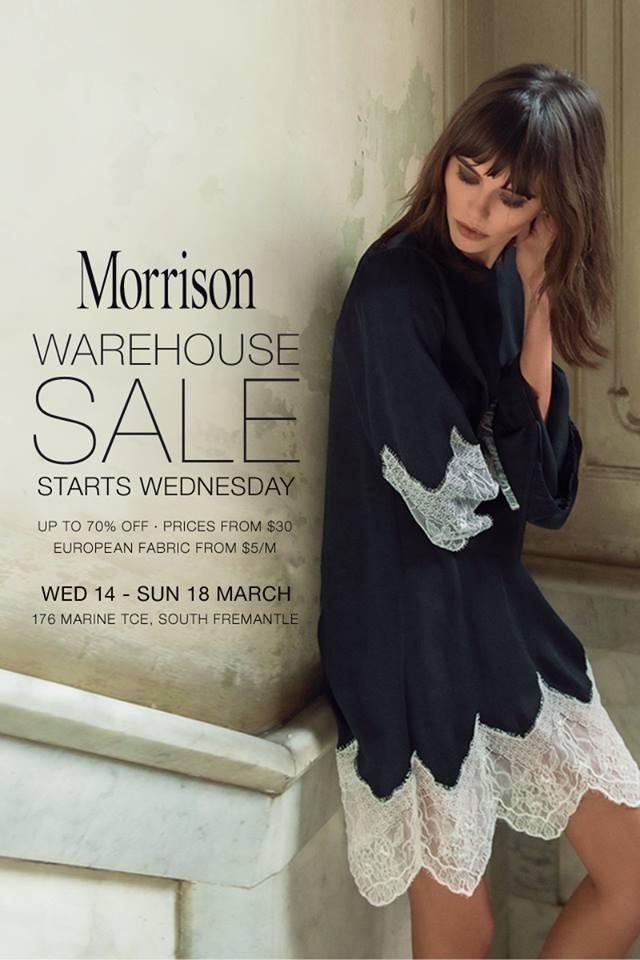 64b40c622bf MORRISON Warehouse Sale Fremantle Sth - Clothing - Fashion - Sales ...