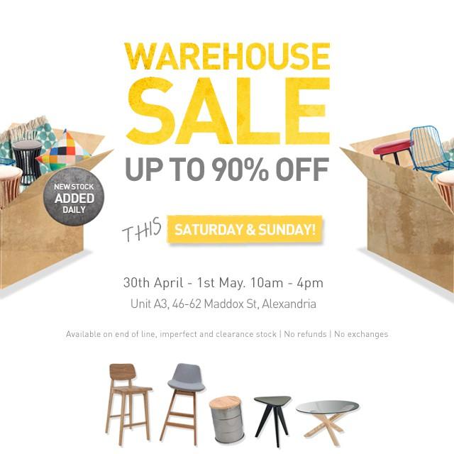 Huge Designer Furniture Warehouse Sale Up To 90 Off